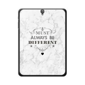 Always Different Coco Chanel Quote Marble Samsung Galaxy Tab S3 9.7 Case
