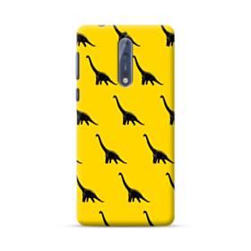 Dinosaurs Patterns Yellow Nokia 8 Case