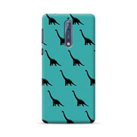 Dinosaur Fabric Pattern Nokia 8 Case