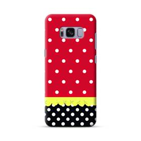 Red Black And Polka Dots Samsung Galaxy S8 Case