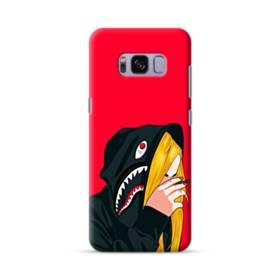 Wearing Shark Hoodie Drawing Long Hair  Samsung Galaxy S8 Case