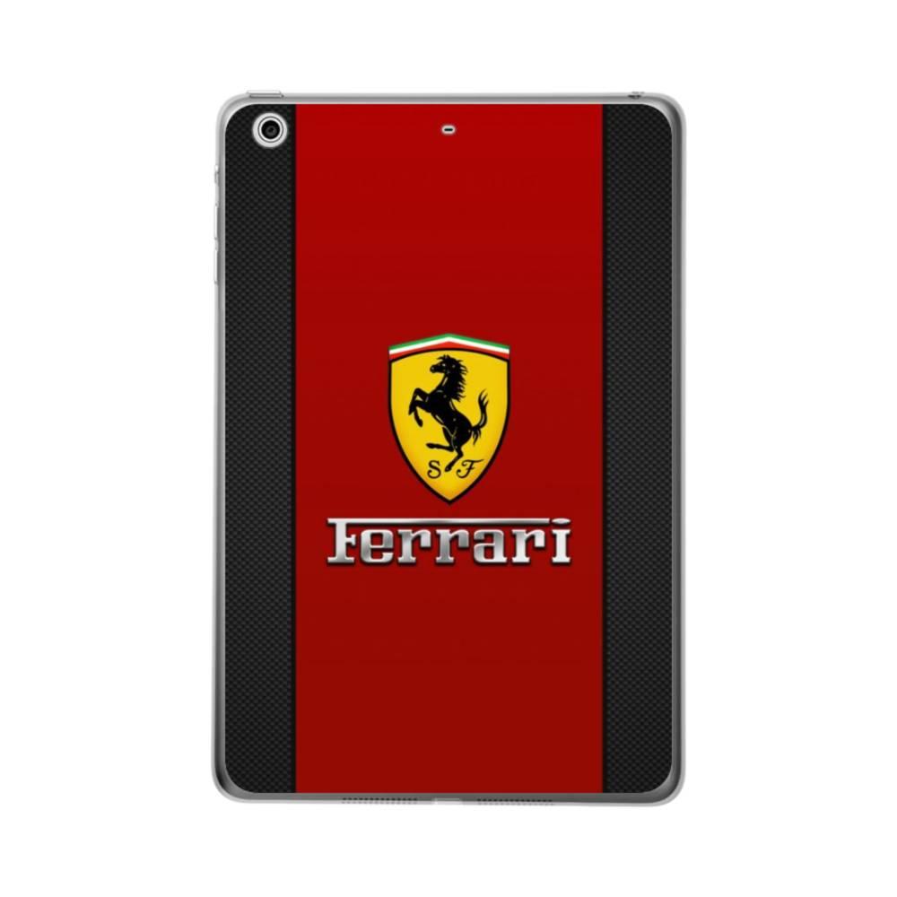 Ferrari In Red Strip Apple iPad 10.2 Clear Case