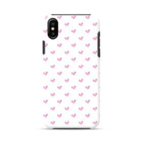 Cute Pink Heart Pattern iPhone XS Max Defender Case