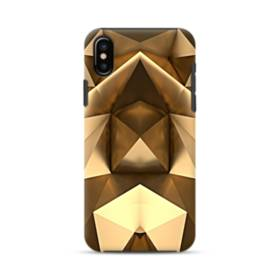 Gold Geometric iPhone XS Max Defender Case