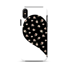Left Floral Heart iPhone XS Max Defender Case