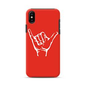 Hand Pose Red iPhone XS Max Defender Case