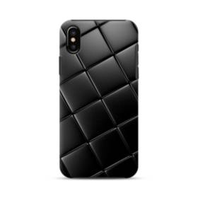 Black Leather Pattern iPhone XS Max Defender Case