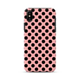 Black Dots Pink iPhone XS Max Defender Case