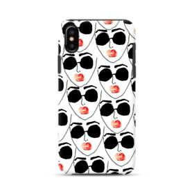 Abstract Fashion Faces iPhone XS Max Defender Case