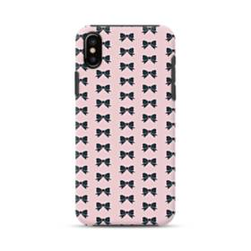 Black Bows Pattern iPhone XS Max Defender Case