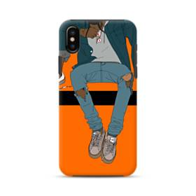 Rodeo Illustration iPhone XS Max Defender Case