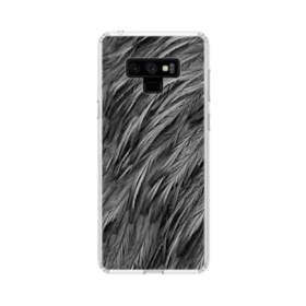 Black Feather Samsung Galaxy Note 9 Clear Case