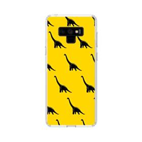 Dinosaurs Patterns Yellow Samsung Galaxy Note 9 Clear Case
