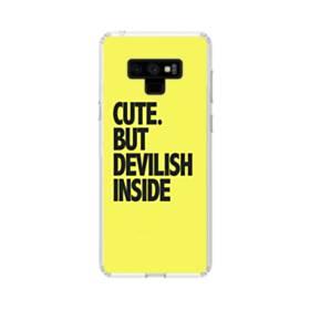 Cute But Devilish Inside Samsung Galaxy Note 9 Clear Case