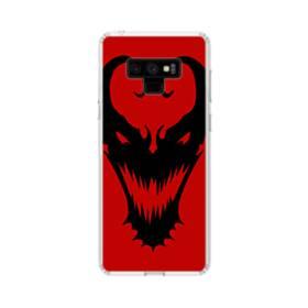 Venom Mask Red Samsung Galaxy Note 9 Clear Case