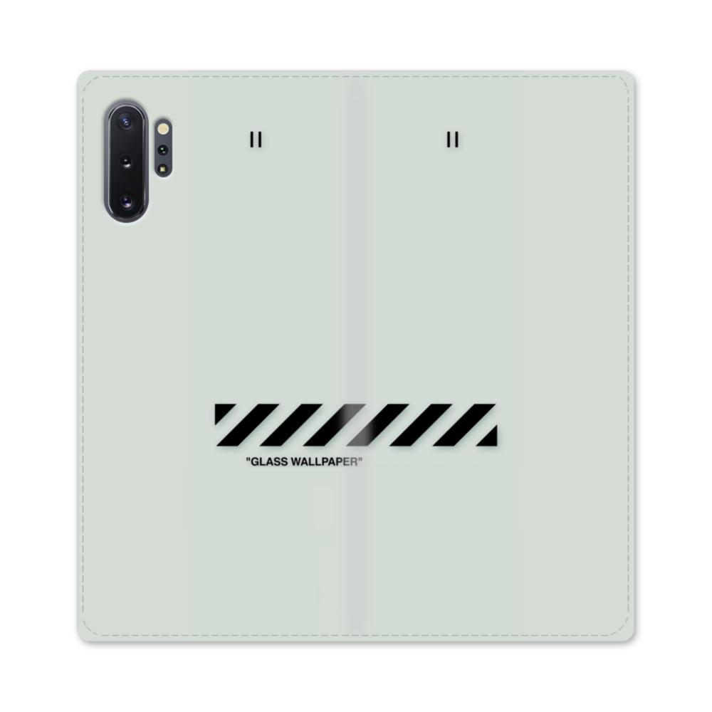 Glass Wallpaper Samsung Galaxy Note 10 Plus Flip Case Case Custom