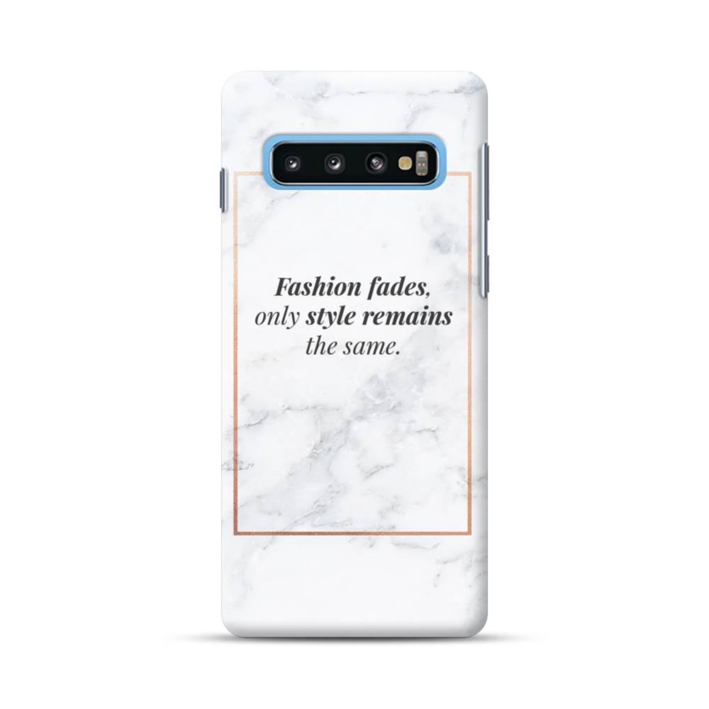 Coco Chanel Quote Fashion Fades Samsung Galaxy S10 Case