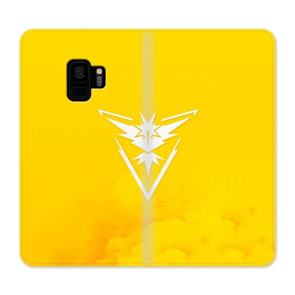 Pokemon Go Logo Team Instinct Yellow Samsung Galaxy S9 Flip Case Case Custom