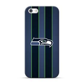 Seattle Seahawks Logo Strips iPhone 5S, 5 Case