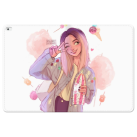Comics Girl Selfie iPad Pro 12.9 (2015) Folio Leather Case