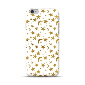 Gold Moon And Stars Pattern iPhone 6S/6 Plus Case