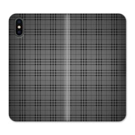 Black Tartan iPhone X Flip Case