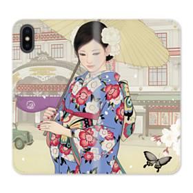 Japanese Girl iPhone X Flip Case