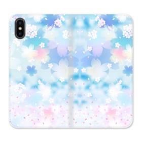 Sakura Aurora iPhone X Flip Case
