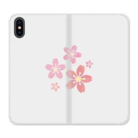 Sakura Flowers iPhone X Flip Case