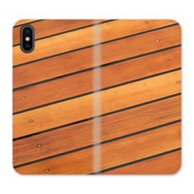 Wood Background iPhone X Flip Case