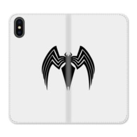 Spider Logo iPhone X Flip Case