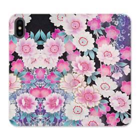 Japanese Flower iPhone X Flip Case