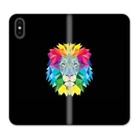 Vector Lion iPhone X Flip Case