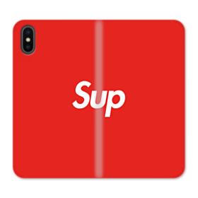 Supreme Logo New York Sup iPhone X Flip Case