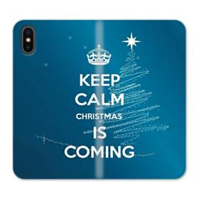 Keep Calm Christmas Is Coming iPhone X Flip Case