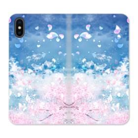 Sakura Petal iPhone X Flip Case