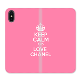 Keep Calm Pink iPhone X Flip Case