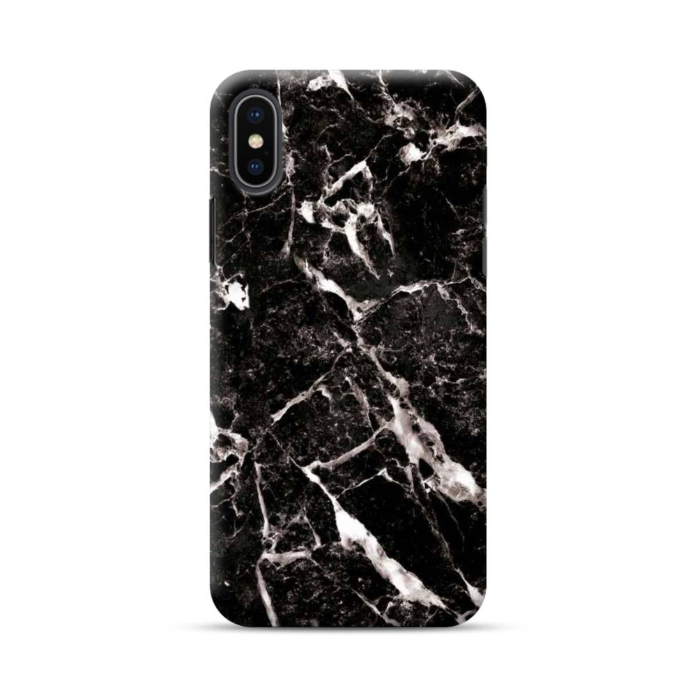 the latest 5d9e7 0fb34 Black Marble With White Veins iPhone XS Max Case