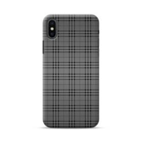Black Tartan iPhone XS Max Case