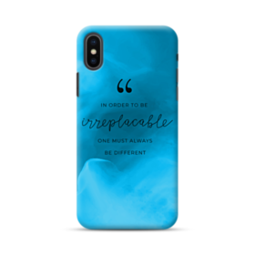 Coco Chanel Inspirational Quote Irreplaceable iPhone XS Max Case