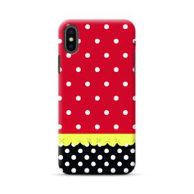 Red Black And Polka Dots iPhone XS Max Case