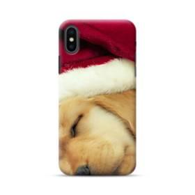 Dog Wearing Santa Hat iPhone XS Max Case