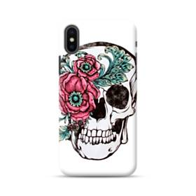 Flower Skull Skeleton Drawing iPhone XS Max Case