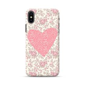 Pink Heart And Floral iPhone XS Max Case