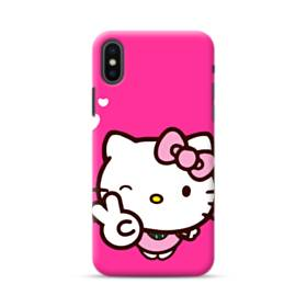 Pink Hello Kitty Yes Heart iPhone XS Max Case