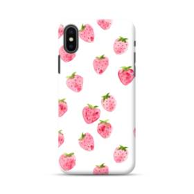 Strawberry Watercolor Pattern iPhone XS Max Case