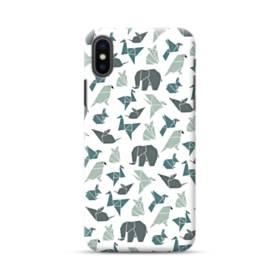 Origami Animals Pattern Illustration iPhone XS Max Case