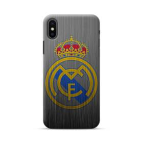 Real Madrid Metal Logo iPhone XS Max Case