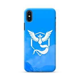 Pokemon Go Logo Team Mystic Blue iPhone XS Max Case