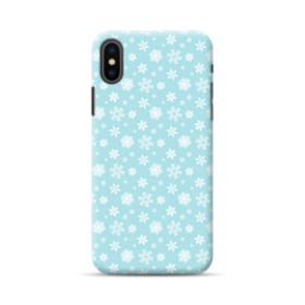 Christmas Blue Background iPhone XS Max Case
